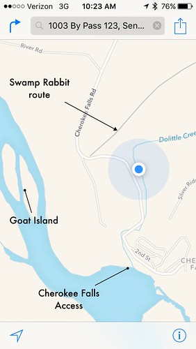 Goat Island Map