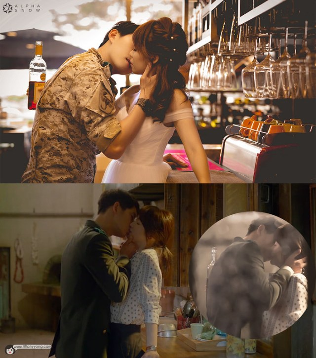 Descendants of the Sun Ep5 Wine Kiss