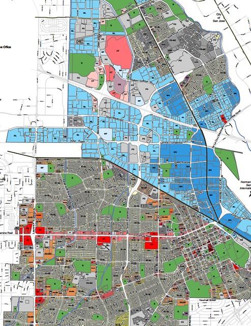 Santa Clara zoning map