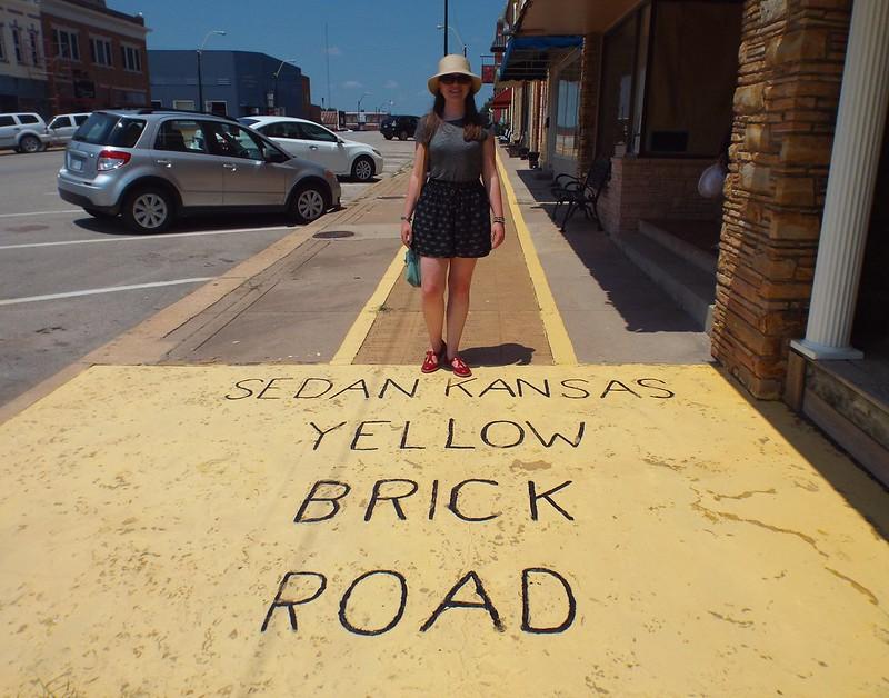 Yellow Brick Road in Sedan, Kansas, USA - the tea break project solo female travel blog