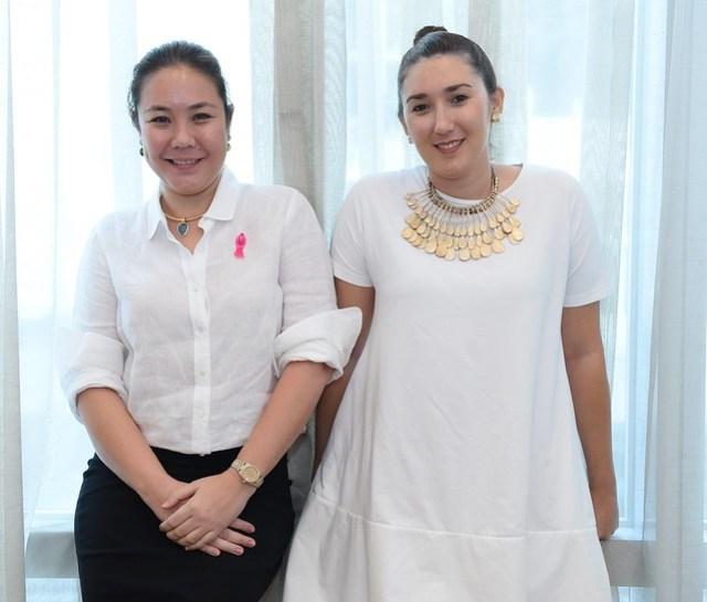Breast cancer survivor Amanda LuYm and cousin Cacay Moras-Server