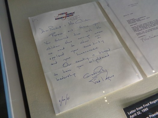 Letter to Bill Clinton from Mister Rogers