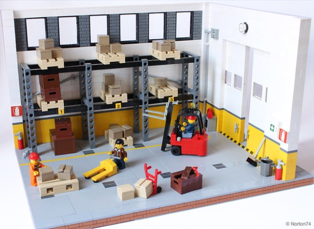 This LEGO warehouse is very palatable | The Brothers Brick | The ...