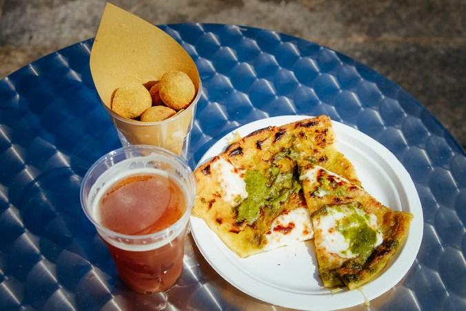 Salone del Gusto 2016: farinata, olive all' ascolana, birra