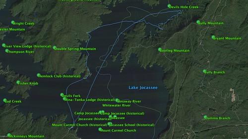 Lake Jocassee GPS Track