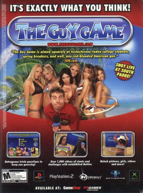 The Guy Game Print Ad
