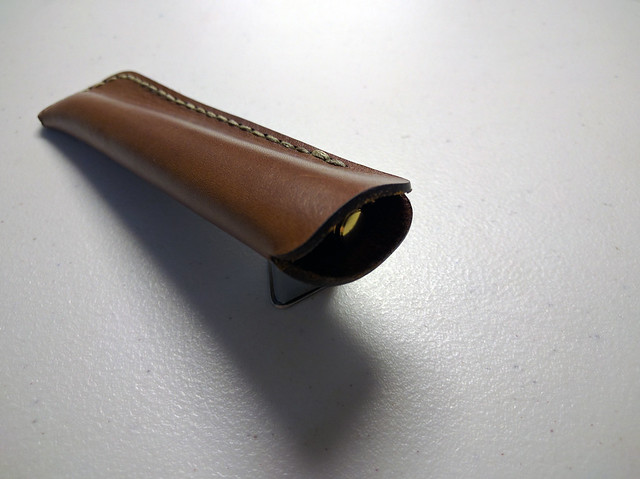 Galen Leather Single Pen Sleeve Pilot Cavalier
