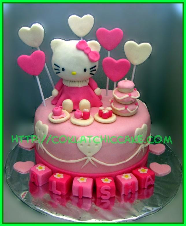 Cake Hello Kitty Alisha Jual Kue Ulang Tahun