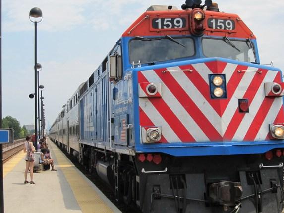 Metra UPW Train at Oak Park