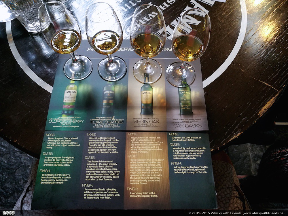 Jameson Reserve Bottling tastings