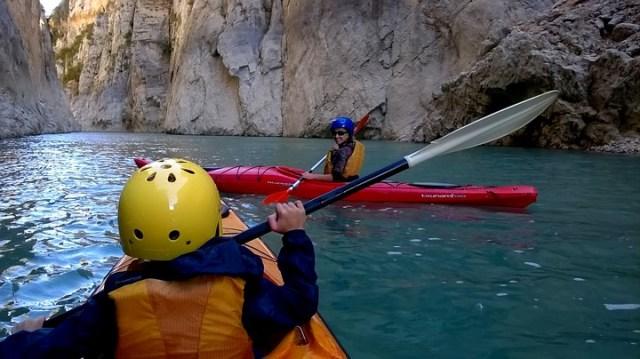 Kayak por el Congost del Mont-rebei