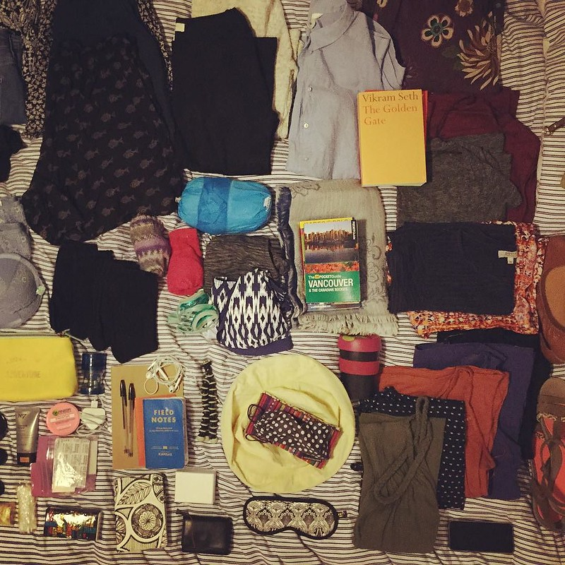 All packed and ready for a massive American road trip - the tea break project solo travel blog
