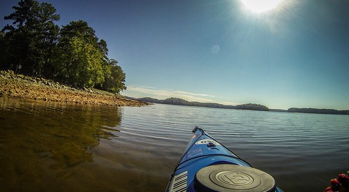 Paddling to Ghost Island in Lake Hartwell-98