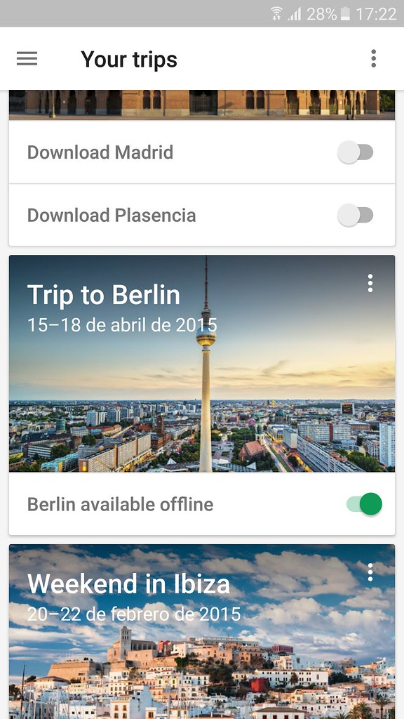 Google Trips Capturas