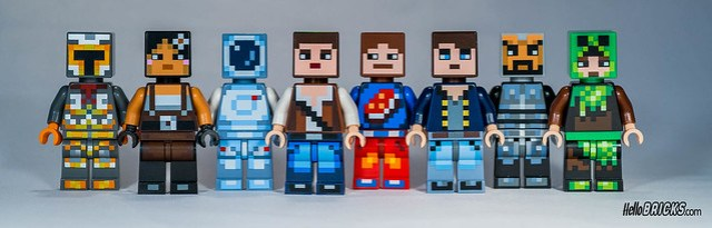 Lego Minecraft Skin Pack