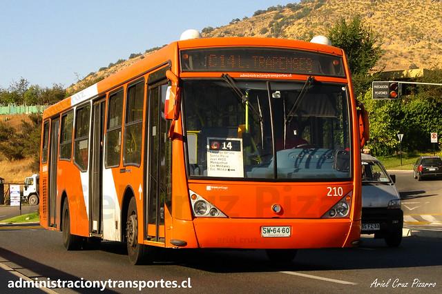 Transantiago C14 | Redbus | Caio Millenium - Mercedes Benz O500U / SW6460 - 210