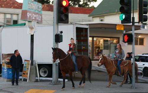 Horsing around downtown Santa Cruz