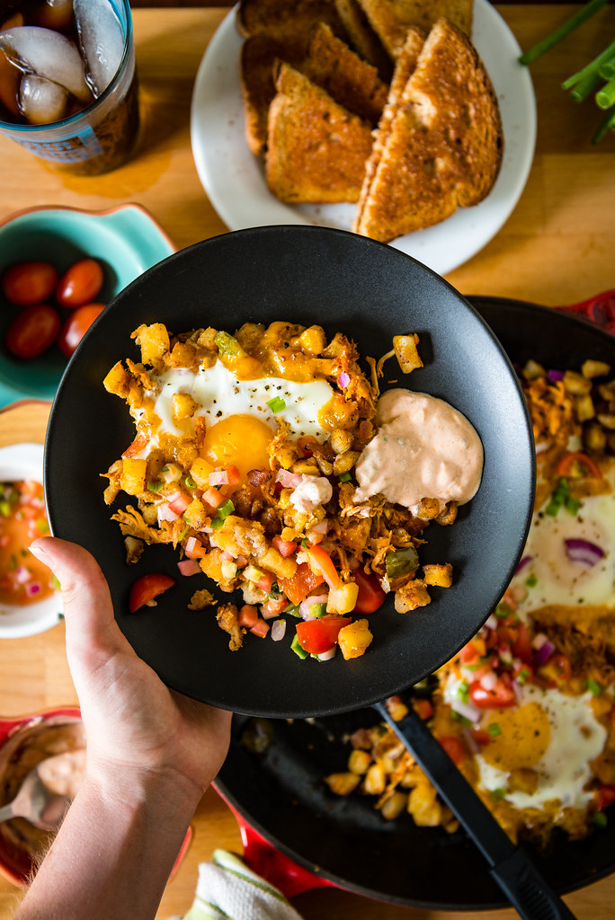 Spicy Chipotle Breakfast Hash {Girl Carnivore}