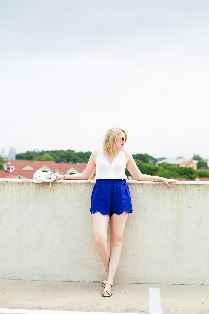 scalloped cotton shorts from H&M