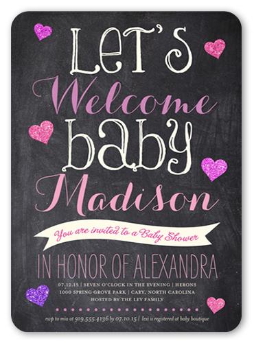 Shower Bulletin 5x7 Custom Baby Shower Invitations