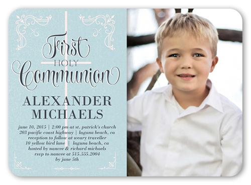Decorative Borders Boy Communion Invitation Shutterfly