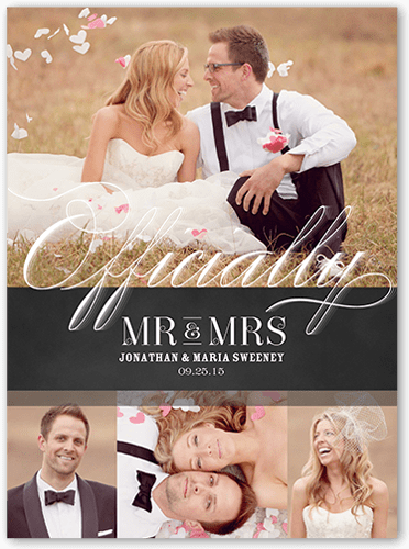 Made It Official 6x8 Wedding Announcement Cards Shutterfly