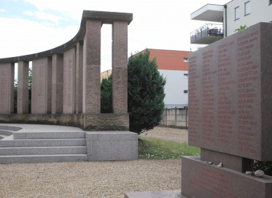 A memorial near Strasbourg to the 86 Jews killed for August Hirt's medical experiments