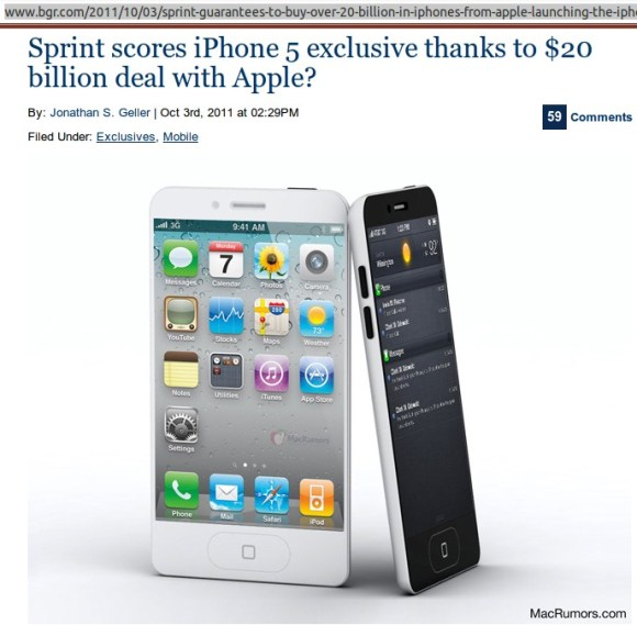 Sprint - Apple exclusive