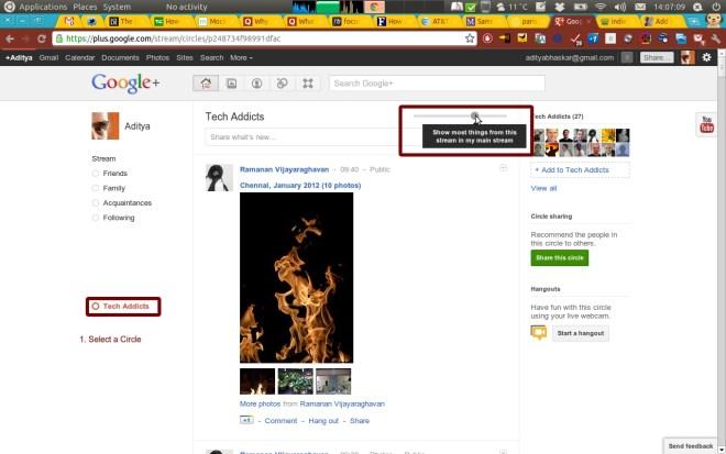 Google+ stream modifier