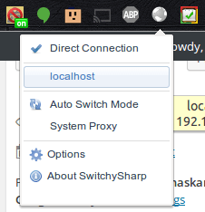 Browser Button - Select Proxy