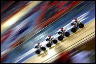 Team GB Men's Pursuit Team In Action