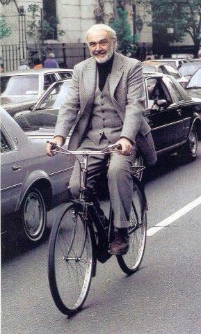 Sir Sean Connery On A Bike
