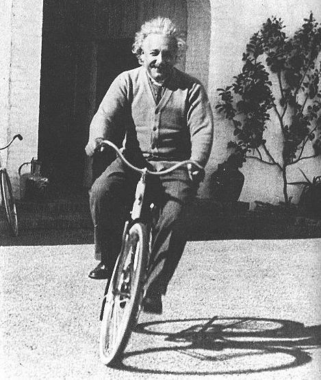 Albert Einstein On A Bike