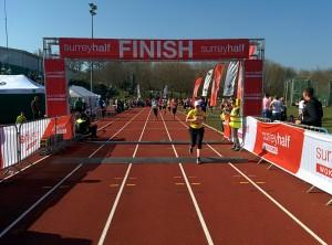 Still sunny at the finish