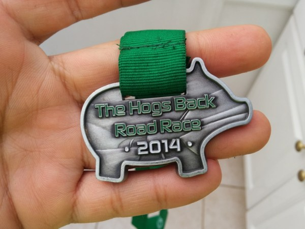 Hogs Back Road Race 2014 Medal