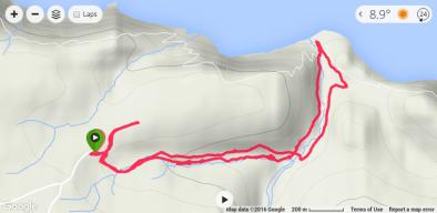 Hartland-Devon run route - To the black rock beach and back