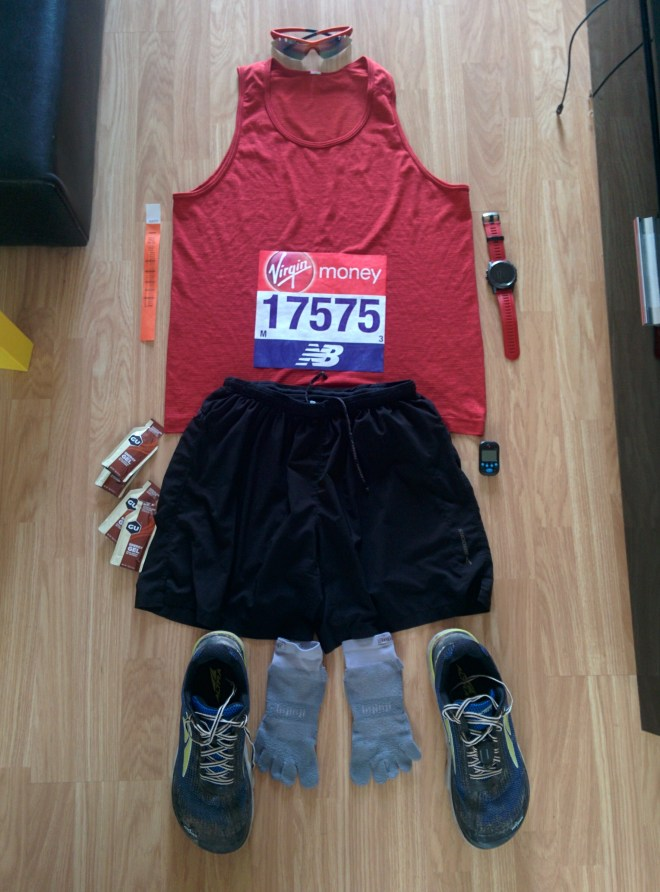 Kit for London marathon 2018