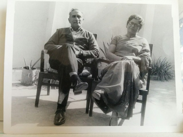 Photo of a photo of my grandparents, probably from early 1970s