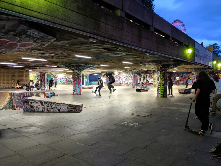 The ever lively skatepark at Southbank