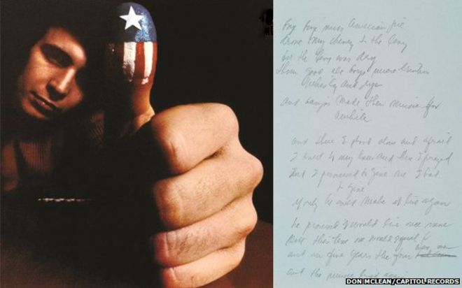 Original lyrics and cover for Don Mclean's American Pie