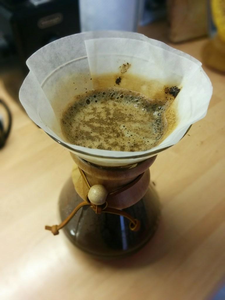 Coffee filtering in Chemex