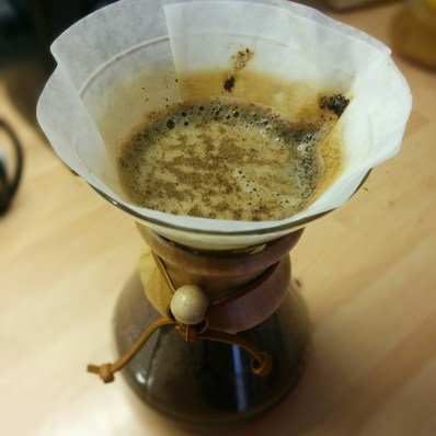 Coffee filtering in Chemex