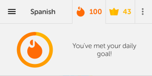 100 days of learning Spanish on Duolingo