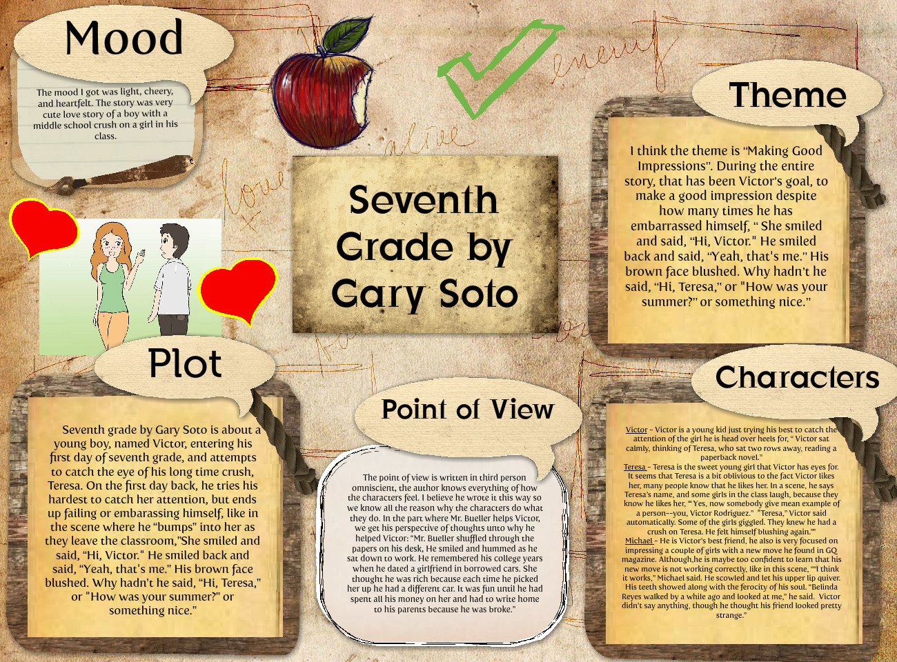 Alexis May Garcia Seventh Grade By Gary Soto Book