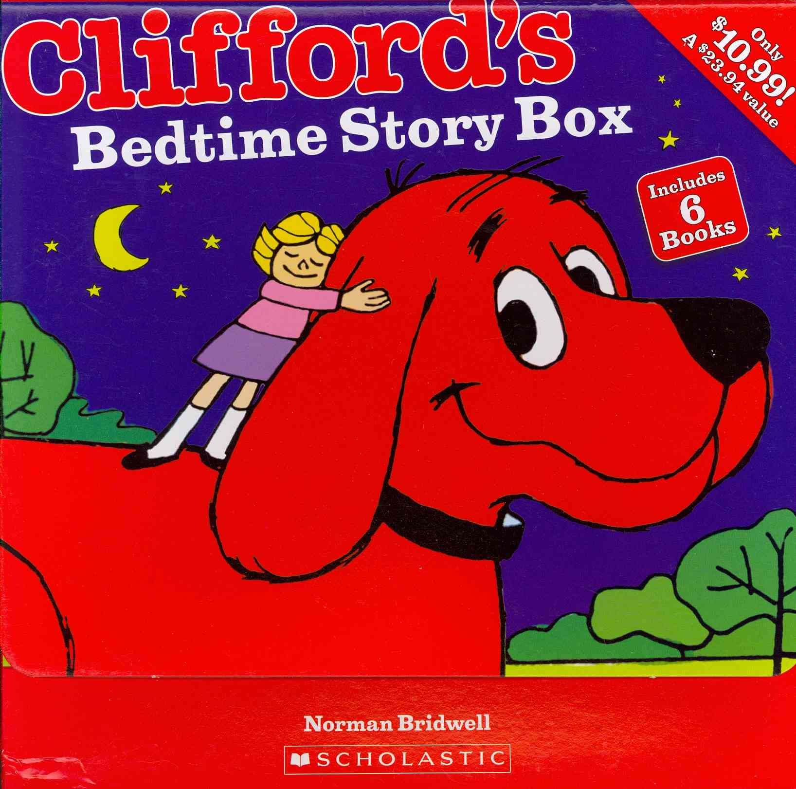 Cliffords Bedtime Story Box By Scholastic Inc Cor