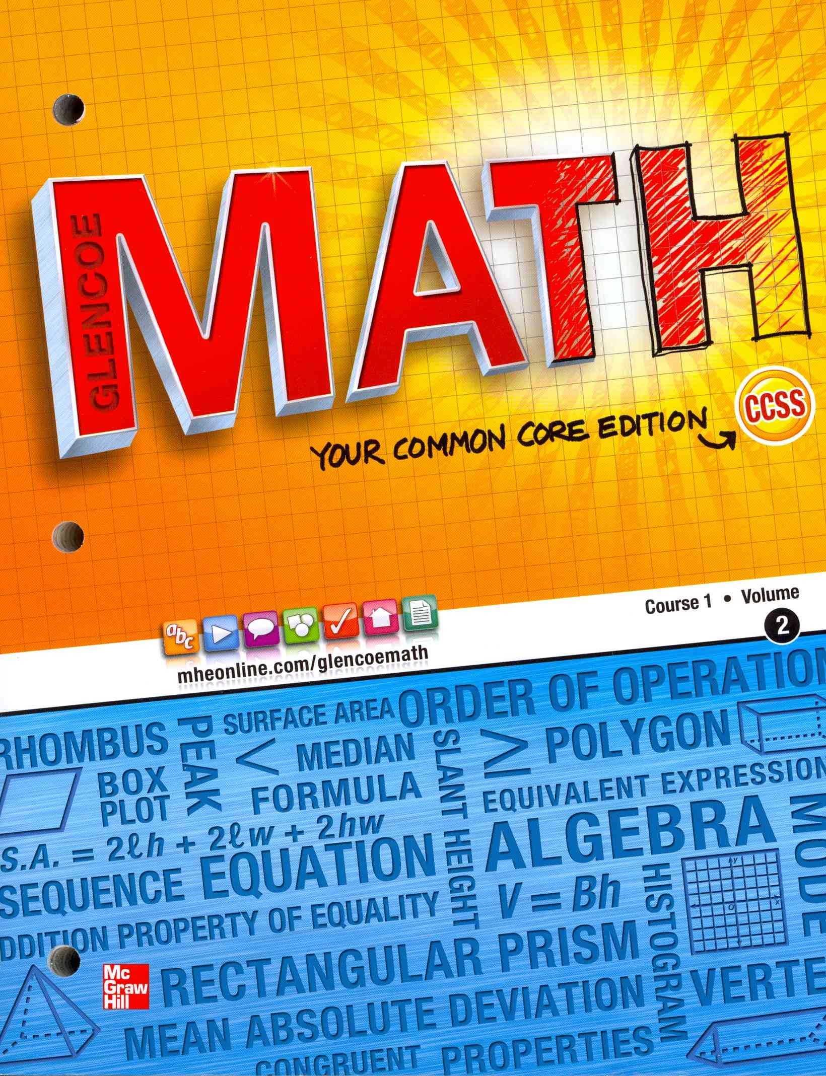 Glencoe Math Course 1 Student Edition Volume 2 By