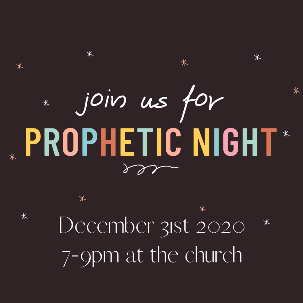 December 31st 7-9pm at the church