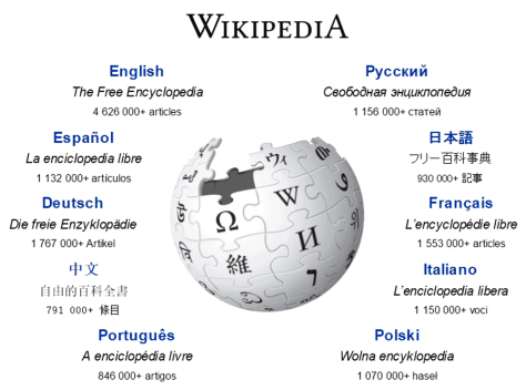 wikipédia, langue