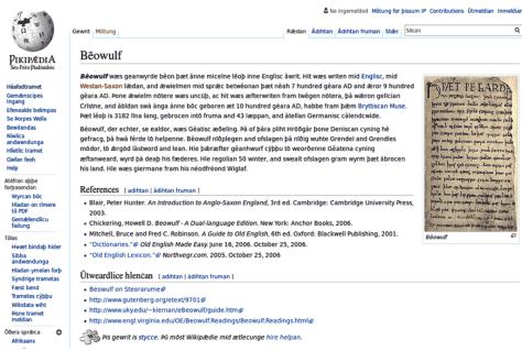 wikipedia, vieil anglais