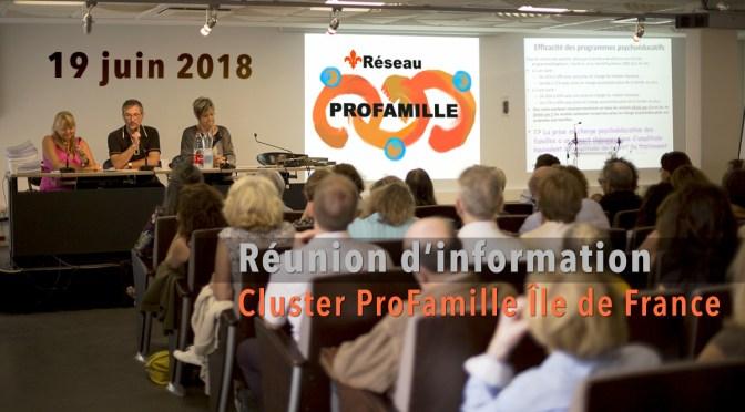 CLUSTER PROFAMILLE IDF : RÉUNION D'INFORMATION LE 19 JUIN 2018